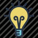 bulb, business, finance, idea, lamp, light icon