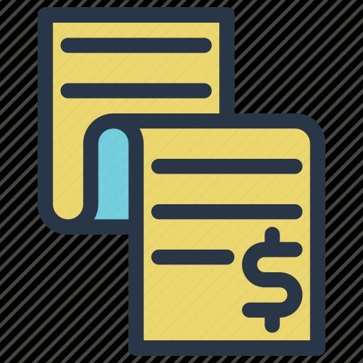 business, finance, invoice, money, receipt, tax icon