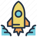 business, finance, launch, rocket, start, up icon