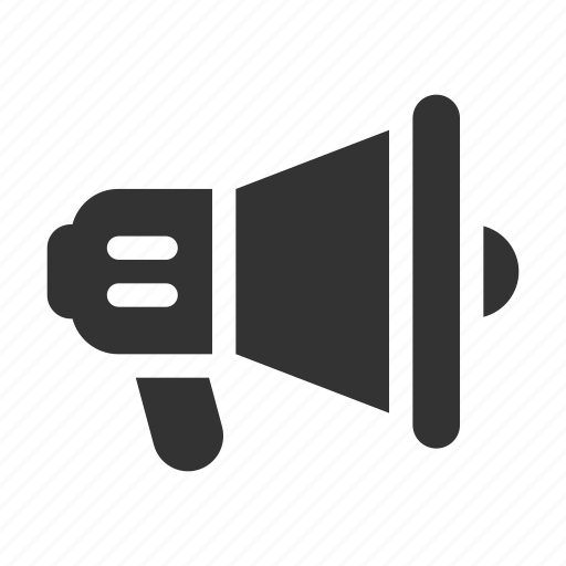 advertising, announcement, communication, megaphone, speaker icon
