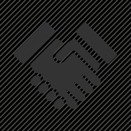 agreement, business, corporate, corporation, finance, hand, hand shake icon
