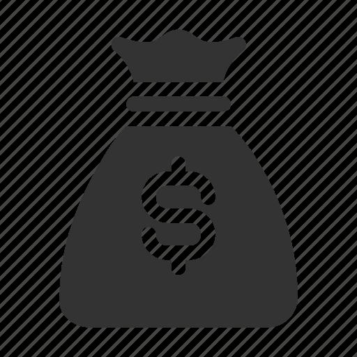 cash, coin, dollar, finance, money, money bag, saving icon