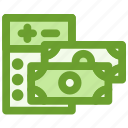 business, calculator, cash, finance icon