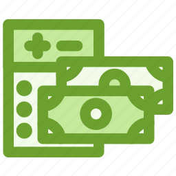 business, calculator, cash, finance icon