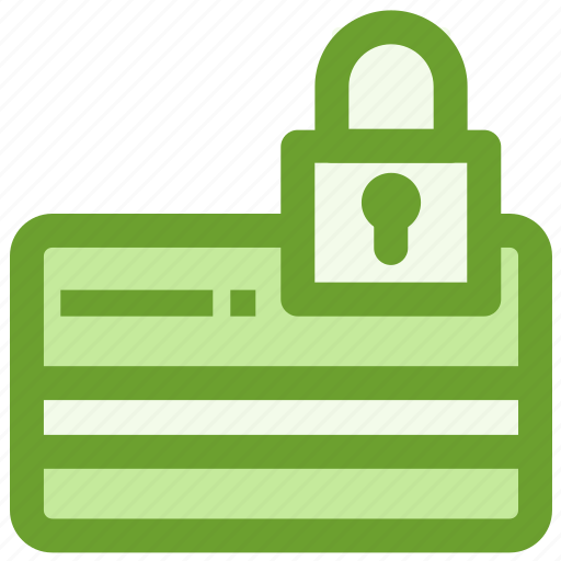 business, creditcard, finance, lock, security icon