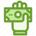 business, cash, finance, hand, payment icon