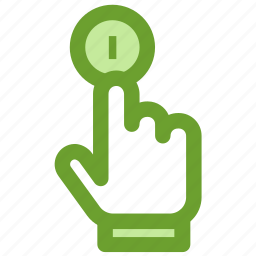 business, coin, finance, finger, hand icon