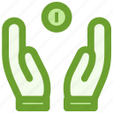 business, coin, finance, hands icon
