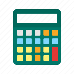 accounts, calculate, calculator, count, electronic, financial, mathematics icon