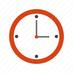 clock, hour, minute, pointer, time, wall, watch icon