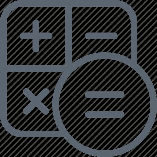 calculate, calculation, calculator, math, mathematics, school icon