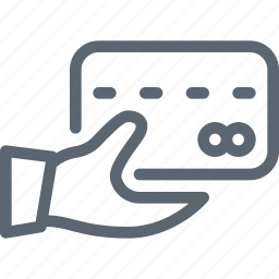 bank, card, credit, hand, hold, pay, payment icon