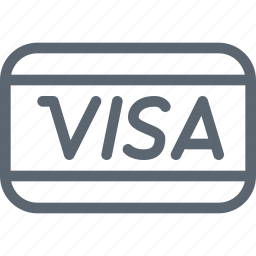 card, credit, pay, payment, shopping, transacton, visa icon
