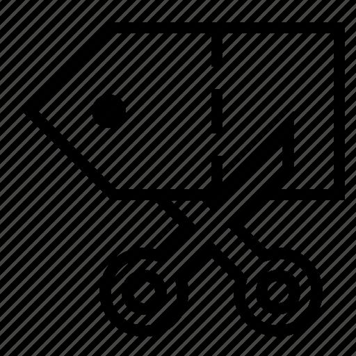 bargain, discount, price cut, price tag, savings, scissors icon