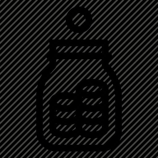 banking, coins, finance, jar, money, tip icon
