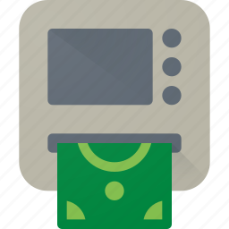 atm, bank, card, cash, credit, money, withdrawal icon