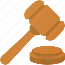 auction, bid, buy, hammer, judge, law, sell icon
