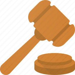 auction, bid, buy, hammer, judge, law, sell icon