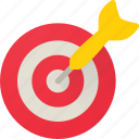 bullseye, business, dart, goal, marketing, success, target icon