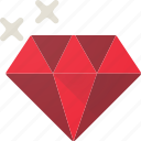 diamond, jewel, precious, ruby icon