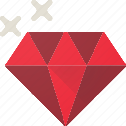 diamond, jewel, precious, ruby icon