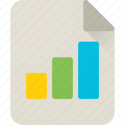 chart, diagram, file, graph, insight, report, sheet icon