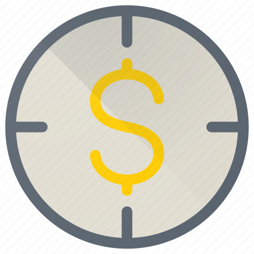 business, dollar, finance, financial, money, target icon