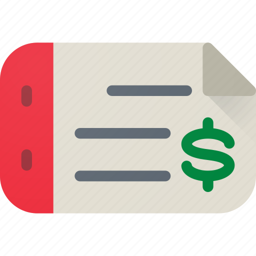 check, dollar, ecommerce, money, pay, payment, shopping icon