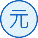 business, coin, currencry, finance, value, yuan icon