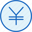 business, coin, currency, finance, value, yen icon
