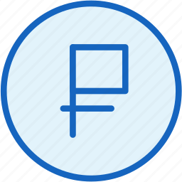 business, coin, currency, finance, ruble, value icon