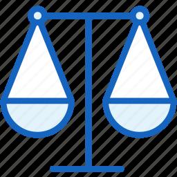balanced, business, finance, libra icon