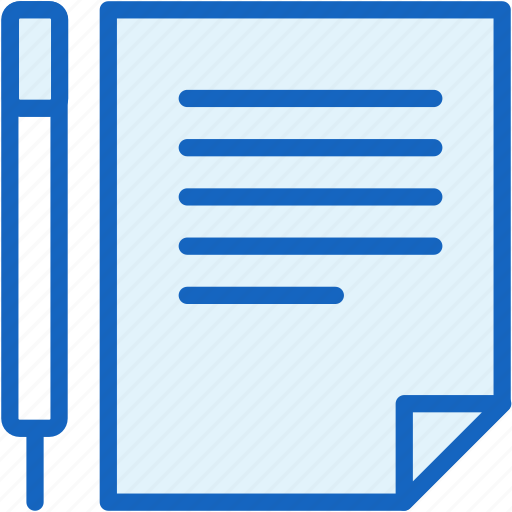 agreement, business, document, finance, pencil icon