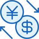 business, dollar, exchange, finance, yen icon