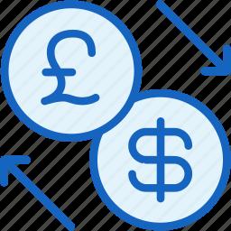 business, dollar, exchange, finance, lira icon