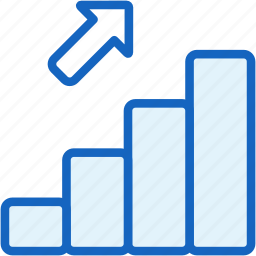 bar, business, chart, finance, stats, up icon