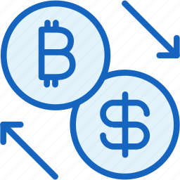 bitcoin, business, dollar, exchange, finance icon