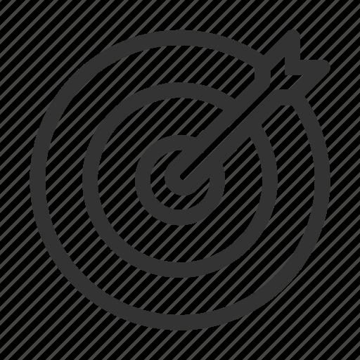 business, center, focus, marketing, target icon