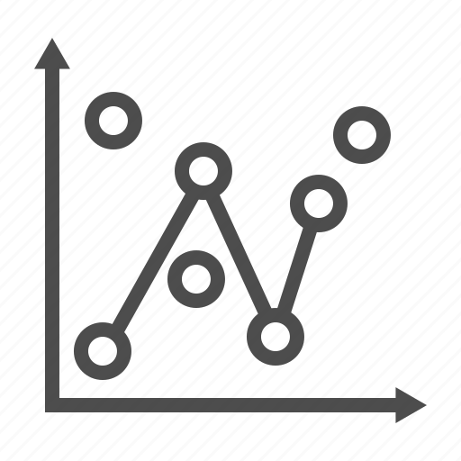analysis, boubble, business, chart, graph, line, statical icon