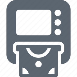atm, bank, banking, card, money, withdraw, withdrawal icon