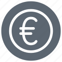 cash, coin, euro, money, sign icon