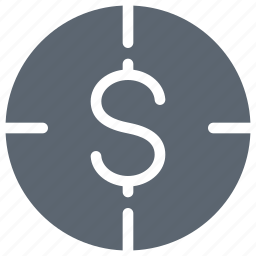 business, coin, dollar, financial, money, payment, target icon