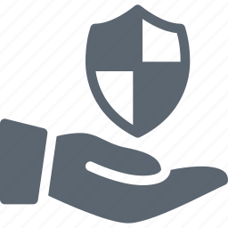 hand, hold, insurance, private, protection, share, shield icon