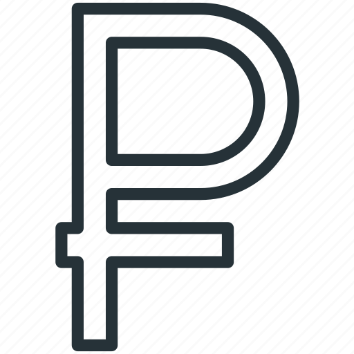 business, currency, finance, ruble icon
