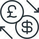 business, dollar, exchange, finance, lira icon