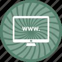 computer, desktop, mac, monitor, www, www. icon
