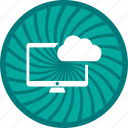 cloud, computer, monitor icon