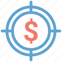 audience targeting, dollar, target icon
