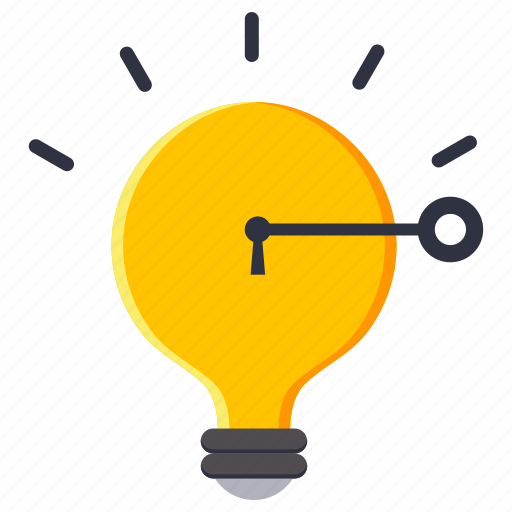 idea, key, light bulb, strategy icon