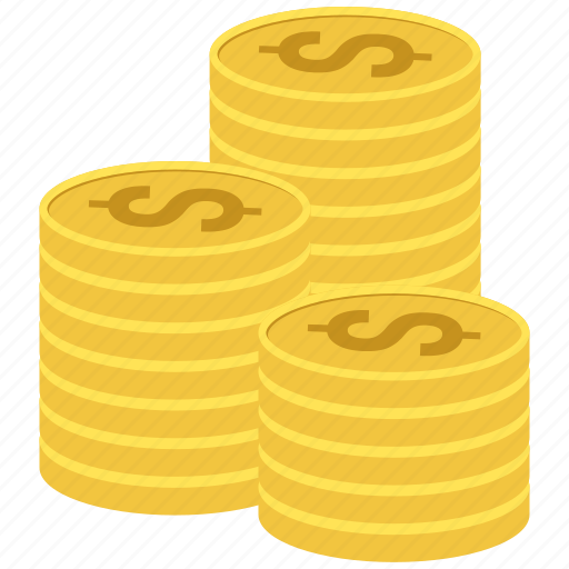 Money, coins, gold, coin icon